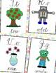Polka dotABC Alphabet posters  print and cursive