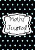 Polka-dots Maths Journal Book Cover Printable