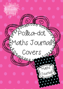 image relating to Journal Cover Printable identified as Polka-dots Maths Magazine Ebook Include Printable
