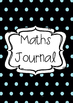 Polka-dots Maths Journal Book Cover Printable