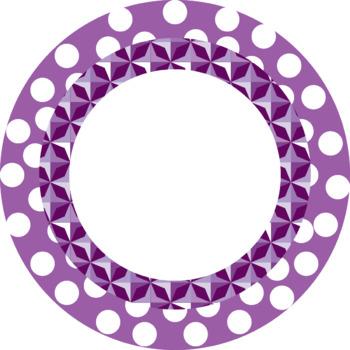 Polka dots Round Frames Clip art