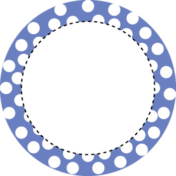Polka dots Round Frames Clip art (Personal and Commercial Use) by mzat