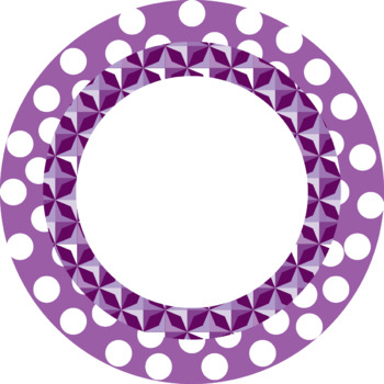 Polka dots Round Frames Clip art (Personal and Commercial Use)