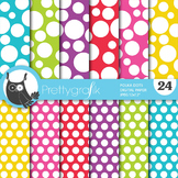 Polka dots digital paper, commercial use, scrapbook papers - PS668