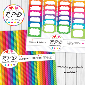 Polka dots mini spots bright rainbow colours digital paper set/ backgrounds