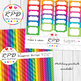 Polka dots spots pattern bright rainbow colours digital paper set/ backgrounds