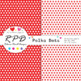 Polka dots spots pattern rainbow colours & white digital paper set/ backgrounds