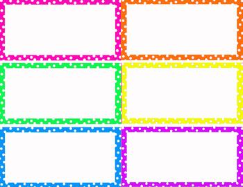 PolkaDot word wall cards