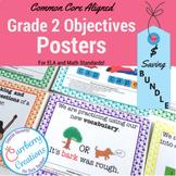 Classroom Decor Polkadots 2nd Grade Common Core Standards Posters: BUNDLE