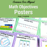 2nd Grade Common Core Standards Posters: Math Standards in