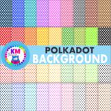 Polkadot Background Scrapbook Paper Clipart