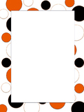 Polkadot Border *Bengals* Black, Orange, White