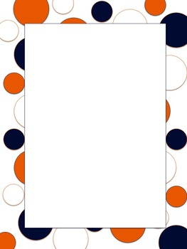 polkadot border broncos blue orange white