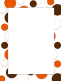 Polkadot Border *Browns* Brown, Orange, White