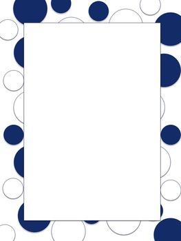 Polkadot Border *Colts* Blue, White