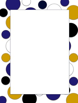 Polkadot Border *Ravens* Purple, Black, Gold, White