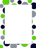 Polkadot Border *Seahawks* blue, green, silver