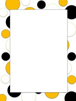Polkadot Border *Steelers* Black, Yellow, White