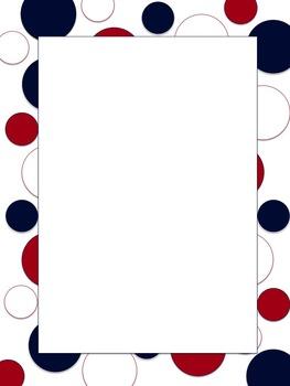 Polkadot Border *Texans* blue, red, white