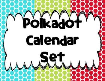Polkadot Calendar Set