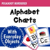 Polkadot Classroom Decor Alphabet Posters: Everyday Objects