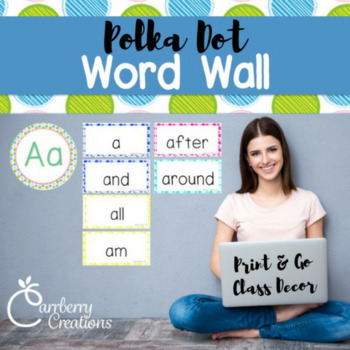Polkadot Classroom Decor: Sight Word Walls