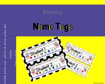 Polkadot Desk Name Tags (Editable)