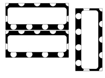 Polkadot Editable Labels, Name Plates, and More!