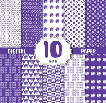 Polkadot Purple Digital Paper