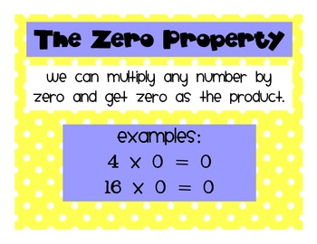 Polkadot Theme Properties of Multiplication Poster and Flipbook Set