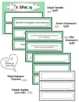 Polka Dot Themed 4th Grade Core Subjects TEKS Statement Bundle