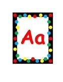 Polkadot Word Wall Alphabet