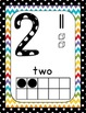 Back to School Polka dot and Chevron Numbers 1-10