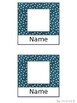 Polkadot and Watercolor Cubby Name Tags