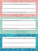 Polkadot and Watercolor Name Tag Plates