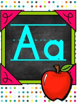 Polkadot bright Alphabet