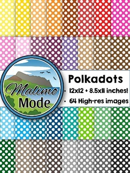 Polkadots - Digital Papers Package (12x12 AND 8.5x11 inches)