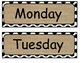 Polkadots and Burlap Decorations (calendar, subjects, banner)