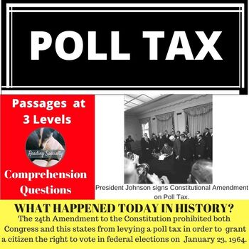 Poll Tax Differentiated Reading Passage January 23