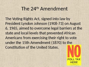 Poll Taxes & Voting Rights