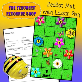 Computational Thinking Sequencing Pollen Hunt Lesson Plan with Mat