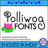 Polliwog Fonts: Endless Font Bundle