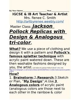 Pollock Designed Master Art Class