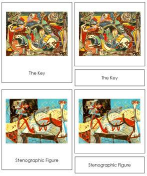 Pollock (Jackson) 3-Part Art Cards