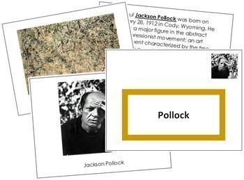 Pollock (Jackson) Art Book - Color Border