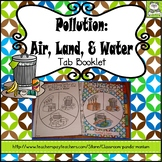 Pollution: Air, Land, and Water Tab Booklet Distance Learning