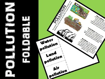 Pollution - Air, Water, Land Foldable