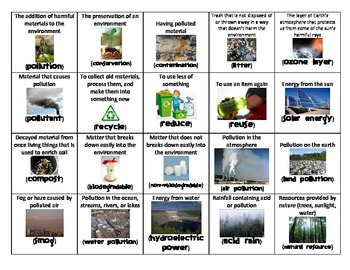 Pollution Bingo