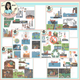 Pollution Bundle: Causes, Effects, Solutions Clip Art