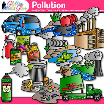 pollution clip art earth conservation of land water air rh teacherspayteachers com pollution clipart gif water pollution clipart